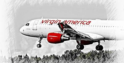 Virgin America Mach Daddy  Art Print by Aaron Berg