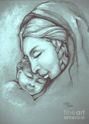 Virgin And Child Art Print by Craig Green