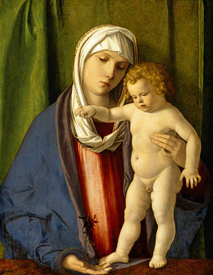 Child Jesus Painting - Virgin And Child by Giovanni Bellini