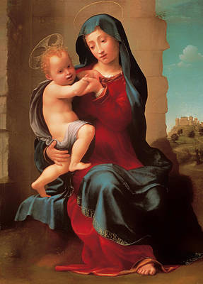 Christian Artwork Painting - Virgin And Child by Mountain Dreams
