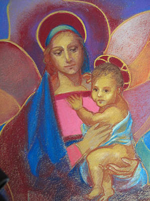 Painting - Virgin And Child by Suzanne Cerny