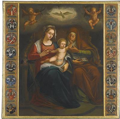 Immaculate Painting - Virgin And Child With Saint Anne by Celestial Images