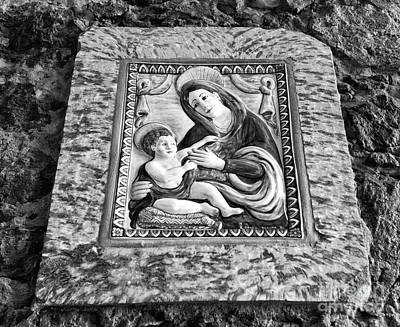Photograph - Virgin And Her Child Mono by John Rizzuto