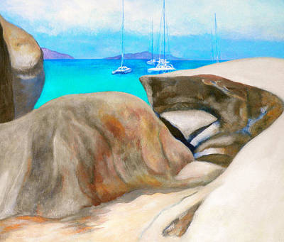 Painting - Virgin Gorda Baths by Kandy Cross