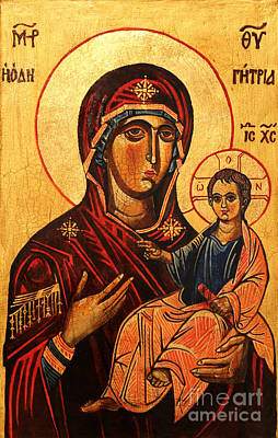 Greek Icon Painting - Virgin Hodegetria by Ryszard Sleczka