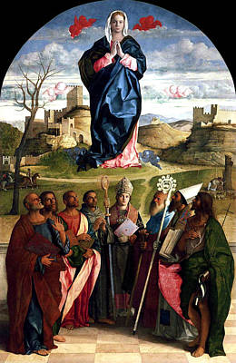Religious Art Painting - Virgin In Glory With Saints 1515 Giovanni Bellini by Karon Melillo DeVega
