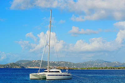 Photograph - Virgin Islands Boat by Songquan Deng