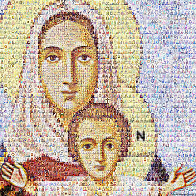 Virgin Mari With The Child Christ Original by Temur Lursmanashvili