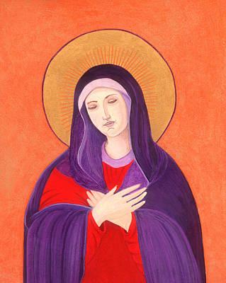 Byzantine Greek Icon Painting - Virgin Mary 4 by Jacqueline Savidge