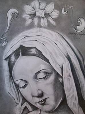 Virgin Mary Art Print by Anthony Gonzalez