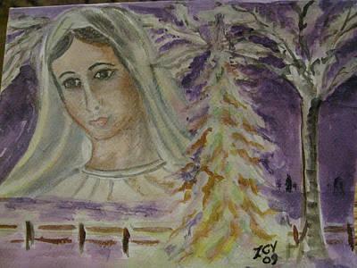 Virgin Mary At Medjugorje Art Print