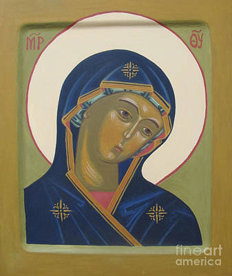 Virgin Mary Icon Art Print by Seija Talolahti