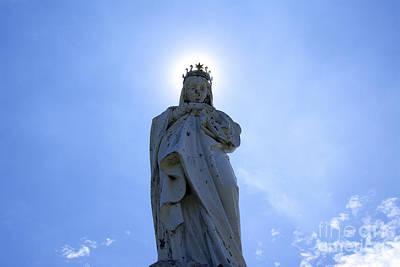 Blessed Virgin Photograph - Virgin Mary In Backlight. by Bernard Jaubert