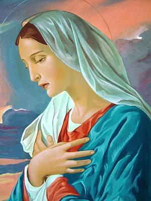 Icon Reproductions Painting - Virgin Mary by Janeta Todorova