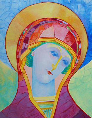 Catholic For Sale Painting - Our Lady Of The Rosary Catholic Art by Magdalena Walulik