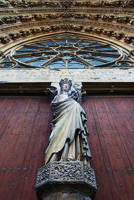 Virgin Mary Statue With Jesus Christ Art Print by Panoramic Images