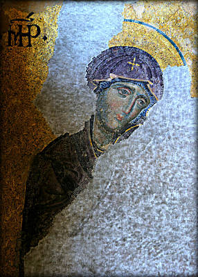 Byzantine Icon Photograph - Virgin Mary by Stephen Stookey