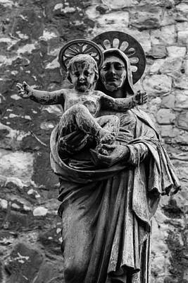 Mother Photograph - Virgin Mary With Jesus Christ by Claire  Doherty
