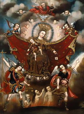 Purgatory Painting - Virgin Of Carmel Saving Souls In Purgatory by Mountain Dreams