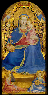 Religious Art Painting - Virgin Of Humility by Fra Angelico
