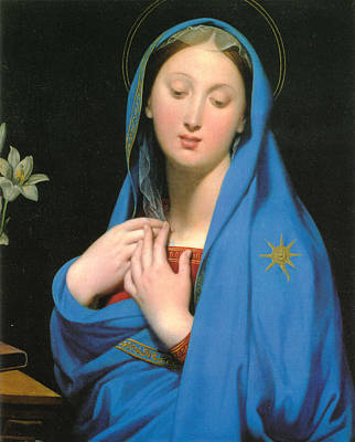 Religious Images Digital Art - Virgin Of The Adoption by Jean Auguste Dominique Ingress