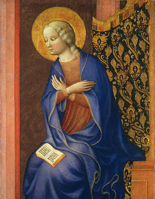 Virgin Of The Annunciation Art Print by Masolino da Panicale