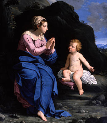 Child Praying Painting - Virgin Of The Ghiara by Ludovico Lana