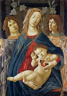 Jesus Art Painting - Virgin Of The Pomegranate by Sandro Botticelli