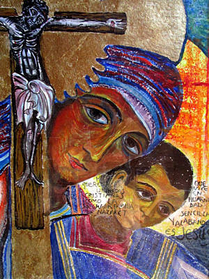 Painting - Virgin Of The Way And The Cross by Sarah Hornsby