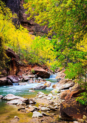 Photograph - Virgin River Babbles In Fall by Peta Thames