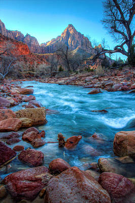 Virgin River Before The Watchman Art Print by Laura Palmer