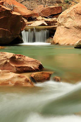 Photograph - Virgin River Cascade by Eric Foltz