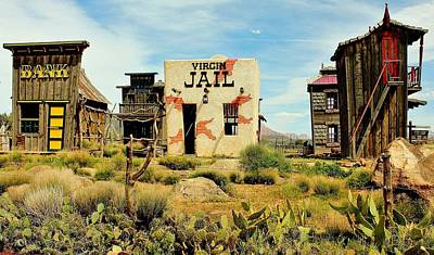 Old West Saloon Photograph - Virgin Utah by Benjamin Yeager
