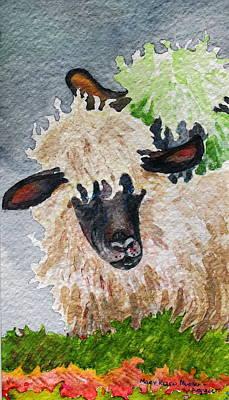 Ovine Painting - Virgin Wool by Mary Ellen Mueller Legault