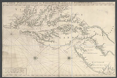 Cartography Photograph - Virginia And Maryland by British Library