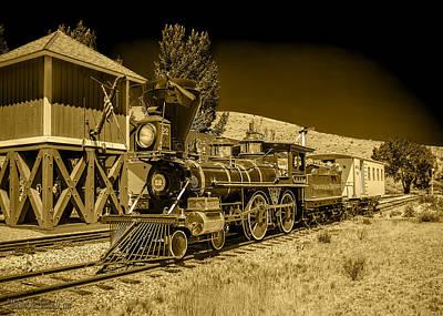 Virginia And Truckee Gold Rush Train 22 Bw Art Print