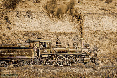 Virginia And Truckee Rail Road Gold Rush Print by LeeAnn McLaneGoetz McLaneGoetzStudioLLCcom