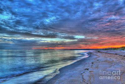 Seashore Photograph - Virginia Beach Sunrise Hdr by Jeff Breiman