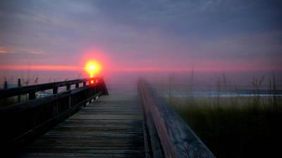 Beach Art Photograph - Virginia Beach Sunrise by Katy Hawk