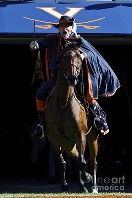 Sword Of Light Photograph - Virginia Cavaliers Cavman And Sabre by Jason O Watson