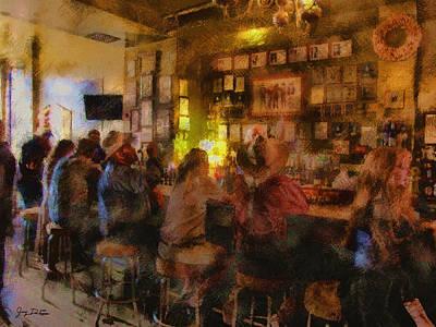 Photograph - Virginia City Bar by Gary De Capua