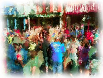 Photograph - Virginia City Crowd Impressionisti by Gary De Capua
