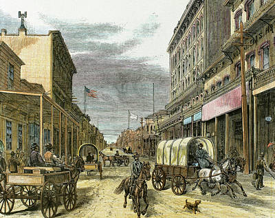 Virginia City In 1870 Art Print by Prisma Archivo