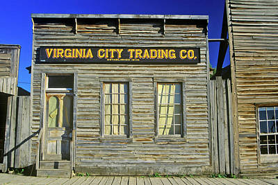 State Of Montana Photograph - Virginia City Trading Co., Mt by Panoramic Images