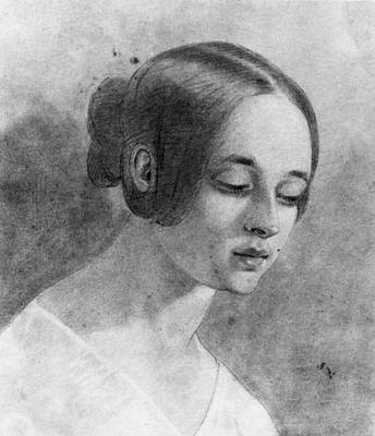 Poe Drawing - Virginia Clemm Poe (1822-1847) by Granger