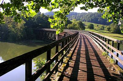 Single Edition Photograph - Virginia Creeper Trail by Robert Watson