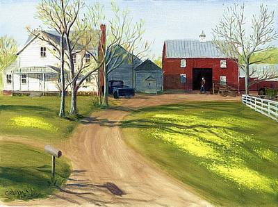 Painting - Virginia Farm Countryside Spring by G Linsenmayer