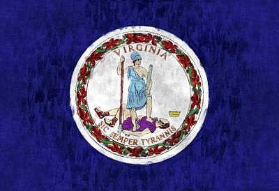 Virginia Flag Art Print