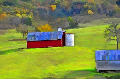 Photograph - Virginia Hills And Barns by Jan Amiss Photography