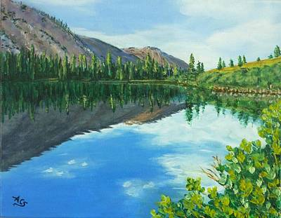 Painting - Virginia Lake by Amelie Simmons